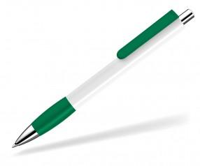 UMA Kugelschreiber PUSH grip 0-0118 SI weiss dunkelgrün