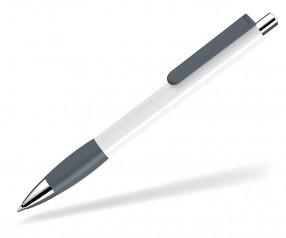 UMA Kugelschreiber PUSH grip 0-0118 SI weiss grau