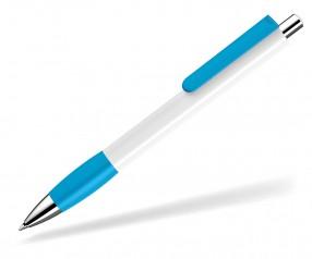 UMA Kugelschreiber PUSH grip 0-0118 SI weiss hellblau