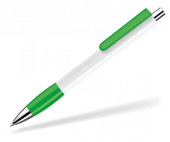 UMA Kugelschreiber PUSH grip 0-0118 SI weiss hellgrün