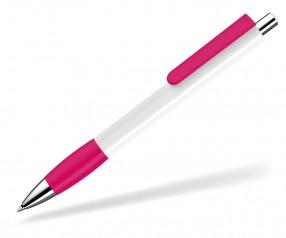 UMA Kugelschreiber PUSH grip 0-0118 SI weiss magenta
