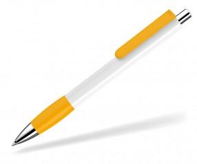 UMA Kugelschreiber PUSH grip 0-0118 SI weiss ocker