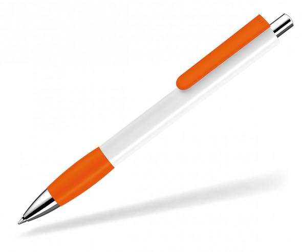UMA Kugelschreiber PUSH grip 0-0118 SI weiss orange