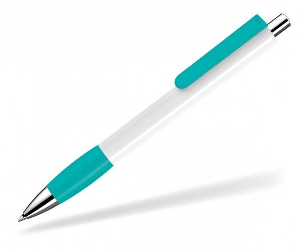 UMA Kugelschreiber PUSH grip 0-0118 SI weiss petrol