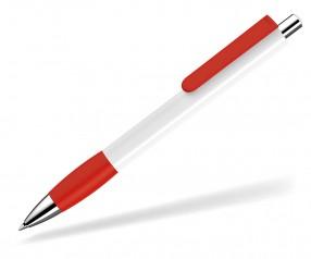 UMA Kugelschreiber PUSH grip 0-0118 SI weiss rot