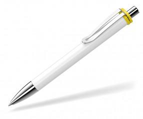 UMA Kugelschreiber VOGUE XL 00136 SI weiss gelb