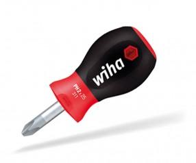 Wiha SoftFinish® Phillips Schraubendreher Stubby 26969 mit Aufdruck