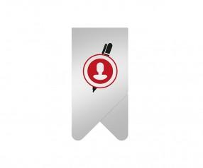 Büroklammer mit Logo bedrucken PaperClip Wing-Klammer Werbeartikel Clip