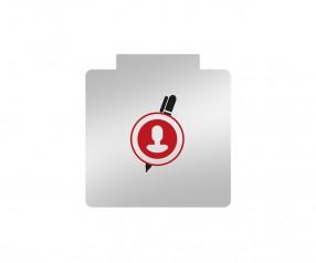 Papierhalter mit Logo bedrucken PaperClip Büroklammer Werbeartikel Quadratisch