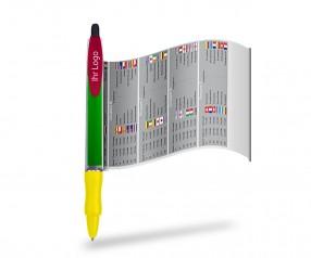 WM-Pen, Kugelschreiber inklusive Fussball Spielplan, WM-Planer 1104