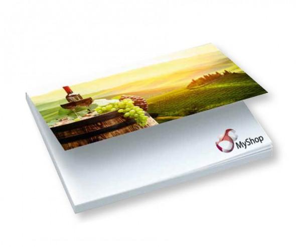 Xtra Softcover Haftnotizblock mit bedrucktem Umschlag