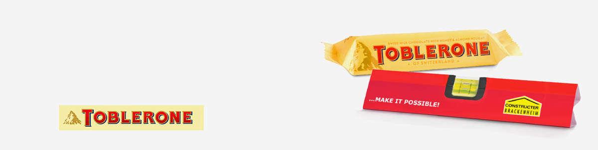 Toblerone Schokolade mir Ihrer Werbung bedrucken