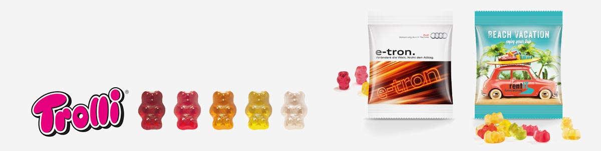 Trolli Gummibärchen und Fruchtgummis als Werbeartikel