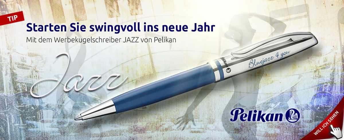 Werbekugelschreiber Pelikan Jazz im Retro Design