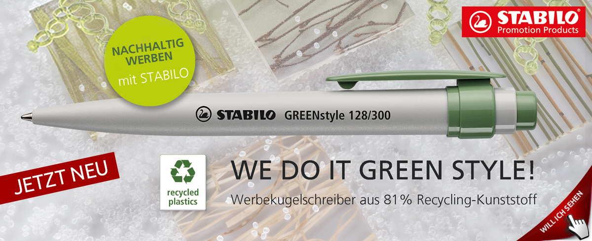 Werbekugelschreiber Stabilo Greenstyle